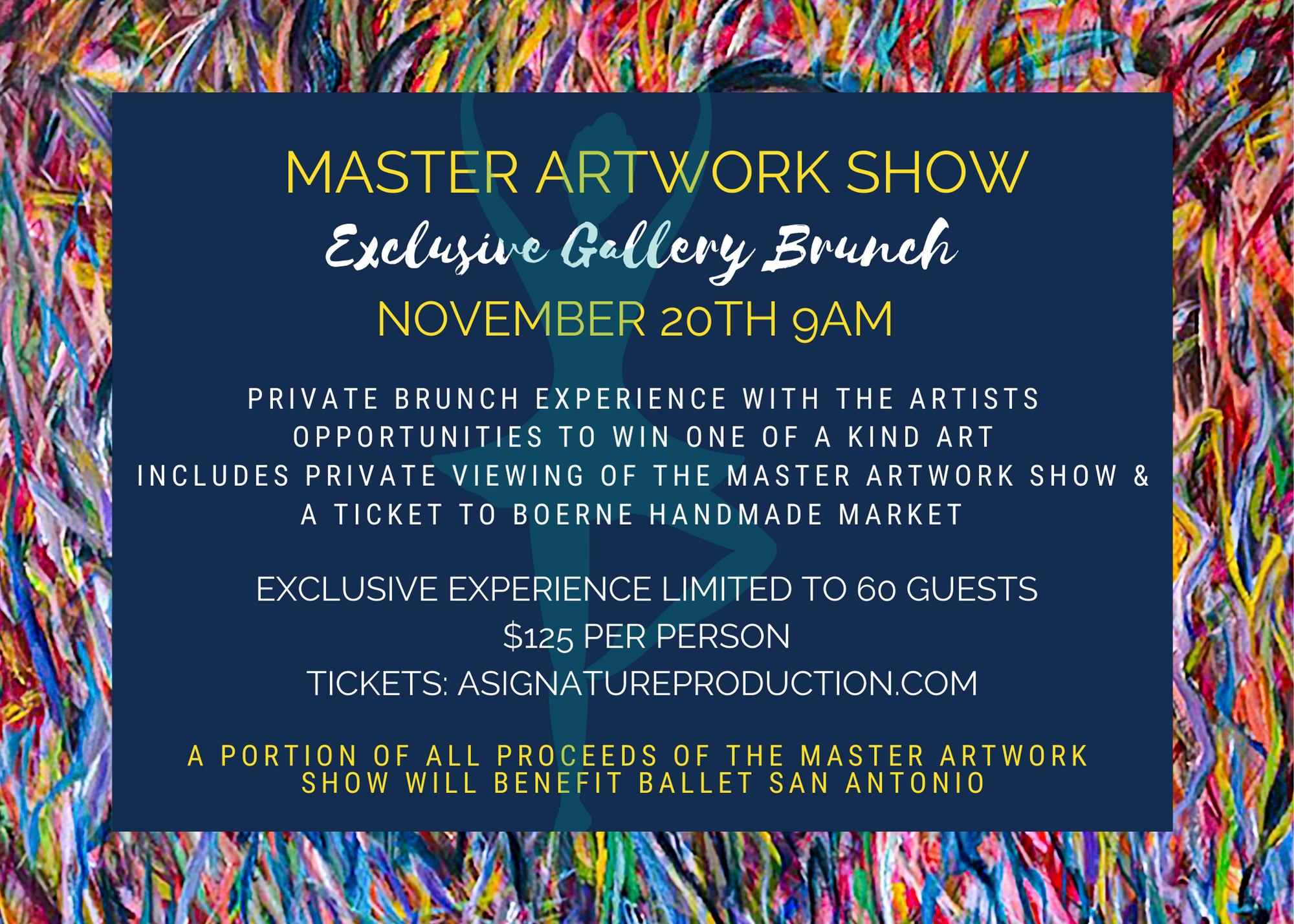Master Artwork Show Exclusive Gallery Brunch Bevy Hotel Boerne Texas